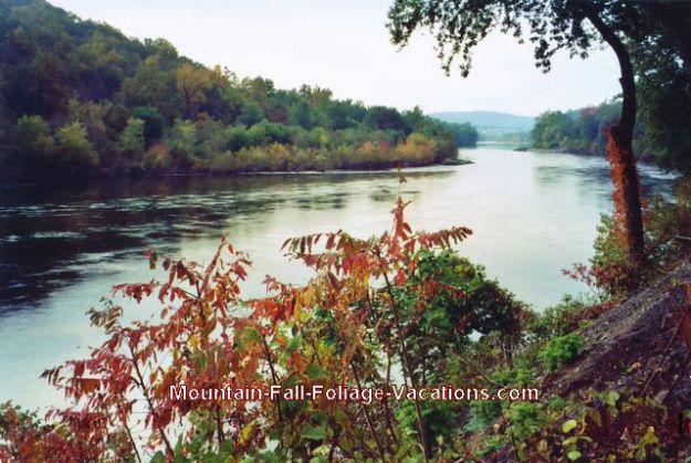 Pennsylvania Poconos Delaware Water Gap river view