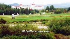 Mt Washington Hotel Resort + 27 hole golf course in distance - In New Hampshire White Mountains