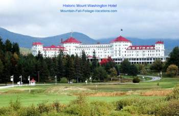 Mt Washington Hotel Resort + Golf Course from the highway - White Mountains - Bretton Woods, New Hampshire