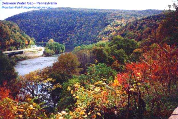 Delaware Water Gap - Colorful New England Fall Foliage