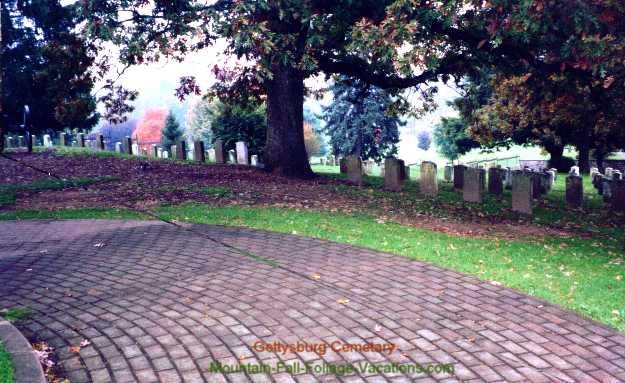 Gettysburg Cemetary Fall Foliage