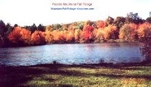 Pennsylvania Pocono Mountain Vacations Fall Foliage Color - Delaware River