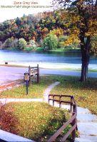 Zane Grey View of Delaware River Fall Foliage